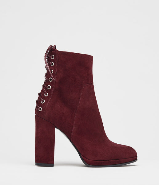 Block Heel Booties Fiona Bordeaux