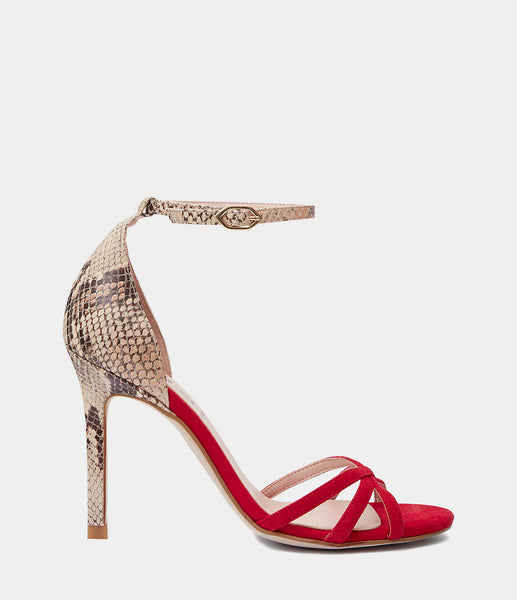 High Heeled Sandal Gala Red