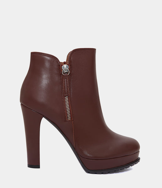 High Heel Ankle Boots Zoe Brown