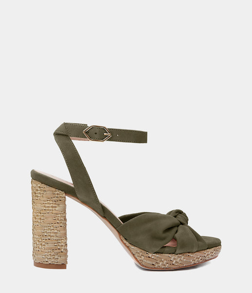 High Heeled Sandals Esma Green