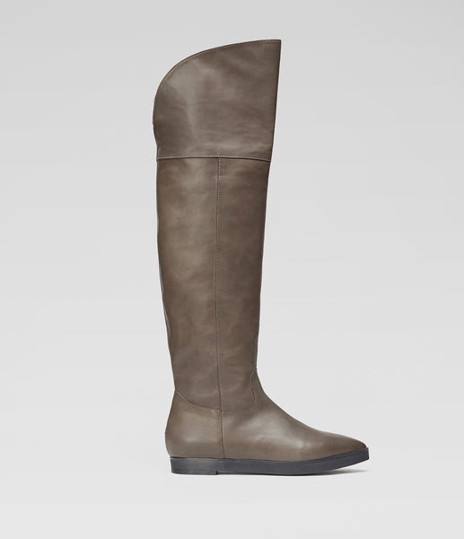 Overknee Boots Lou Taupe