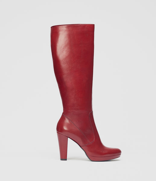 High Heel Boots Luisa Red
