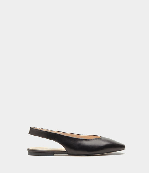 Sling Back Ballet Pumps Marlis Black