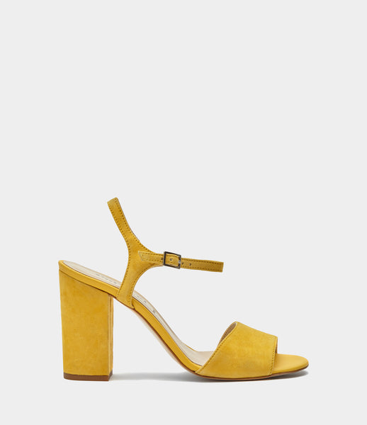 Straps High Heels Senta Yellow