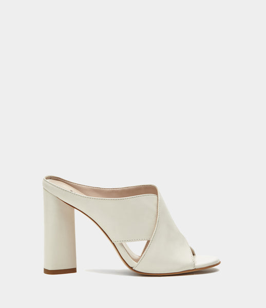 High Heel Mules  Verona White