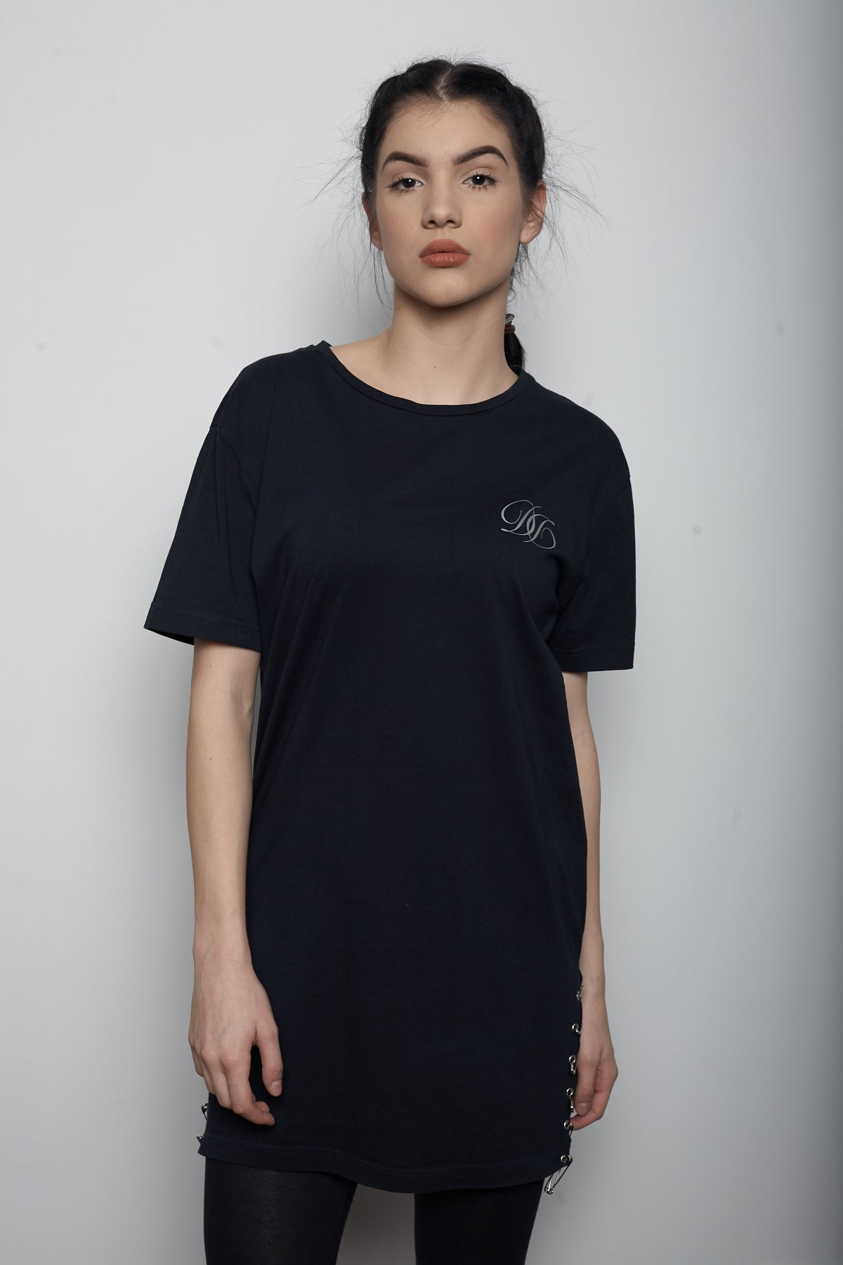 "Black ""PIN"" T-shirt women"