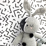 knitted bowie bunny toy