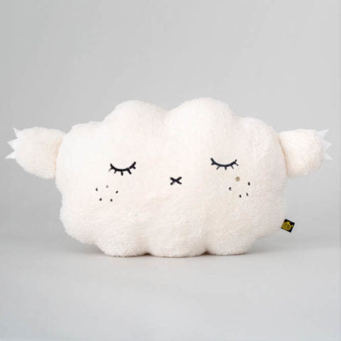 fluffy white cloud cushion