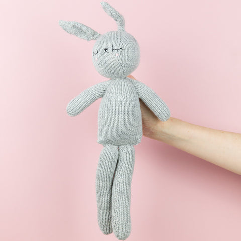Lenny bunny soft knitted toy