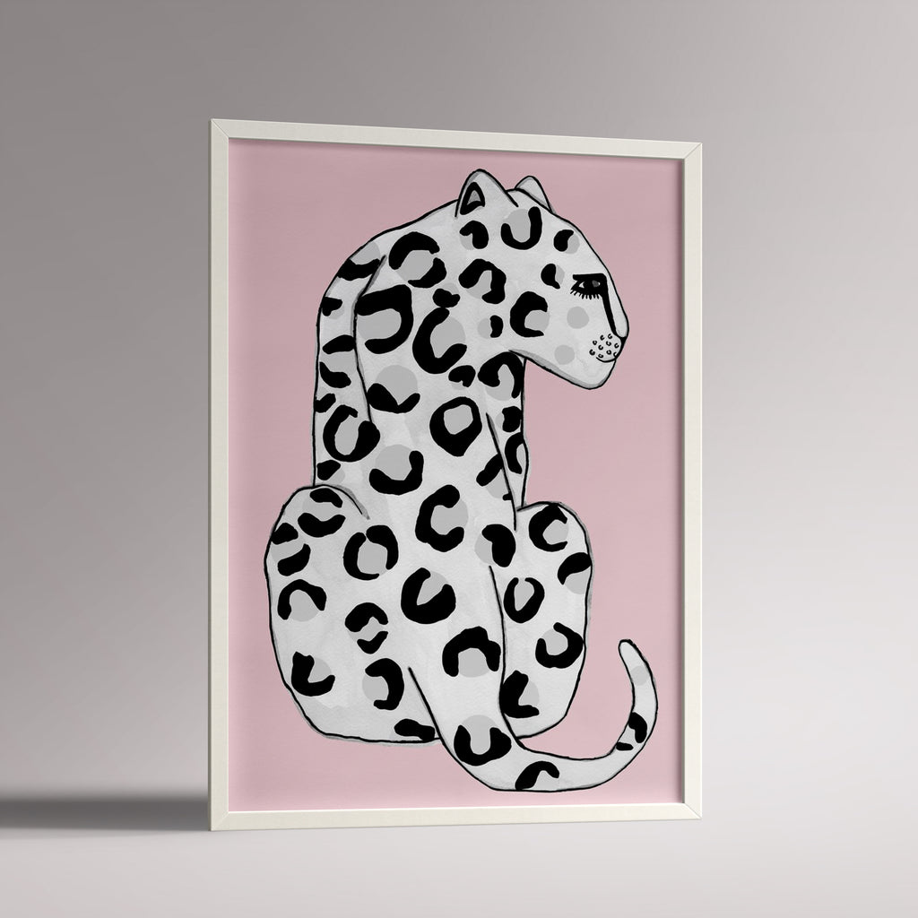 Wonder and RAH pink leopard poster A3 print