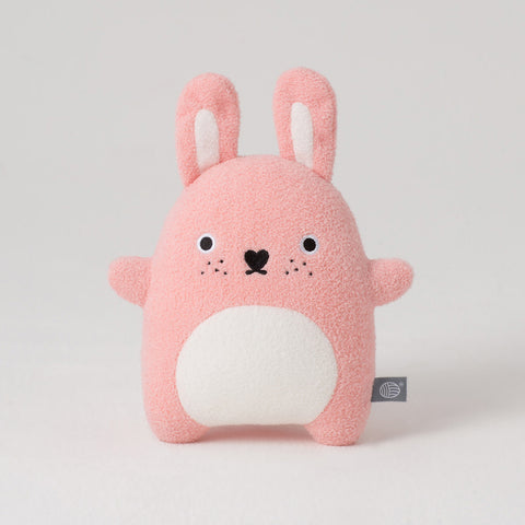Pink rabbit cuddly toy