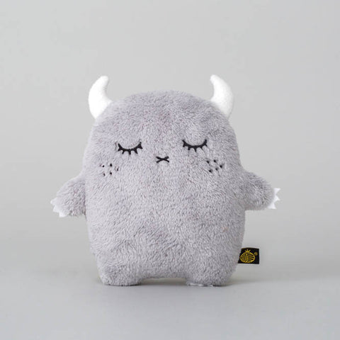Grey fluffy Ricepuffy Noodoll toy