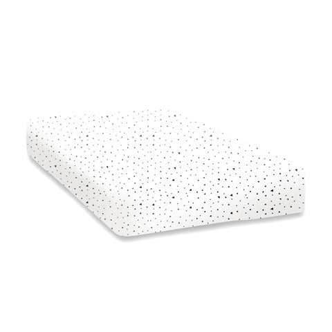 Tiny triangle print cot sheet