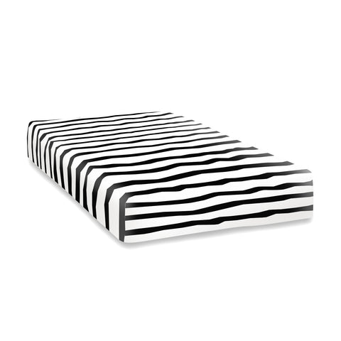 Zebra print fitted cot bed sheet