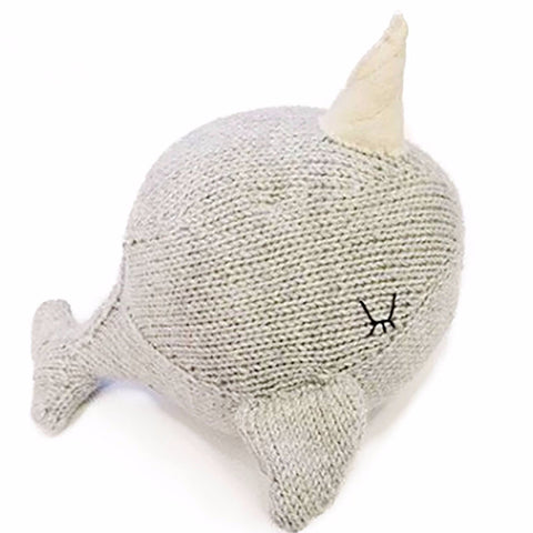 Narwhal knitted toy - Milk and Poop