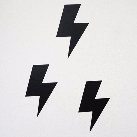Lightning Bolt Stickers - Milk and Poop