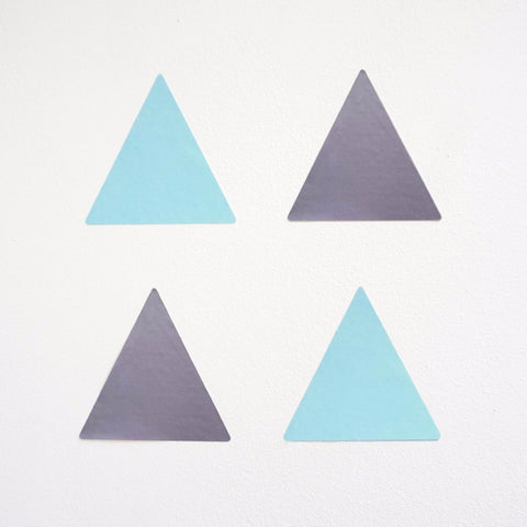 Mint and grey triangle nursery wall stickers
