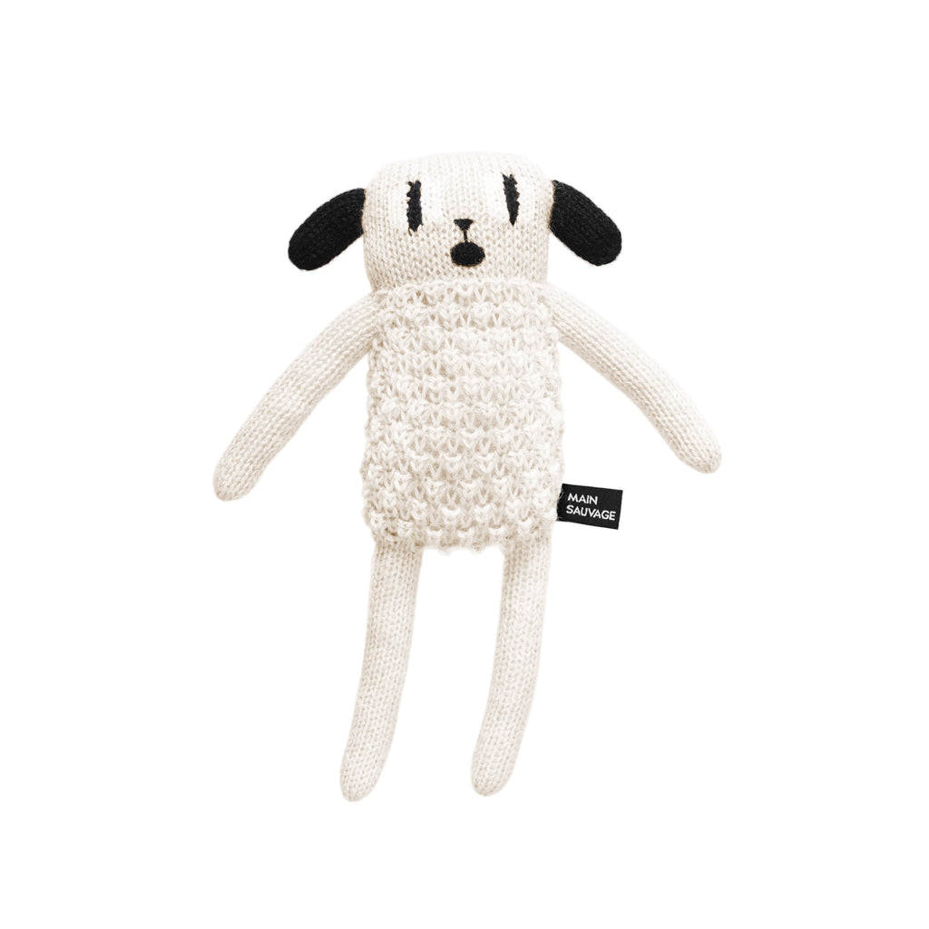 hand knitted puppy soft toy from Main Sauvage
