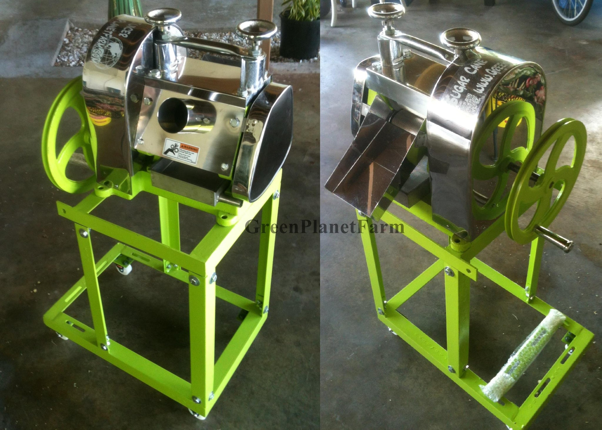 Sugar Cane juicer with cart