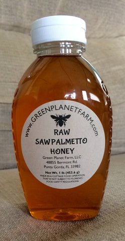 1lb Raw Saw Palmetto Honey