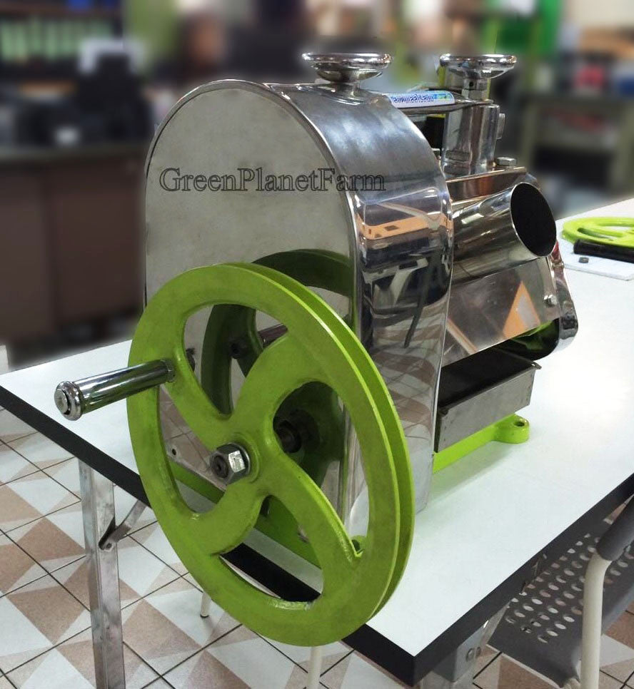 GPF-2 Manual Crank Sugar Cane Juicer With Cart