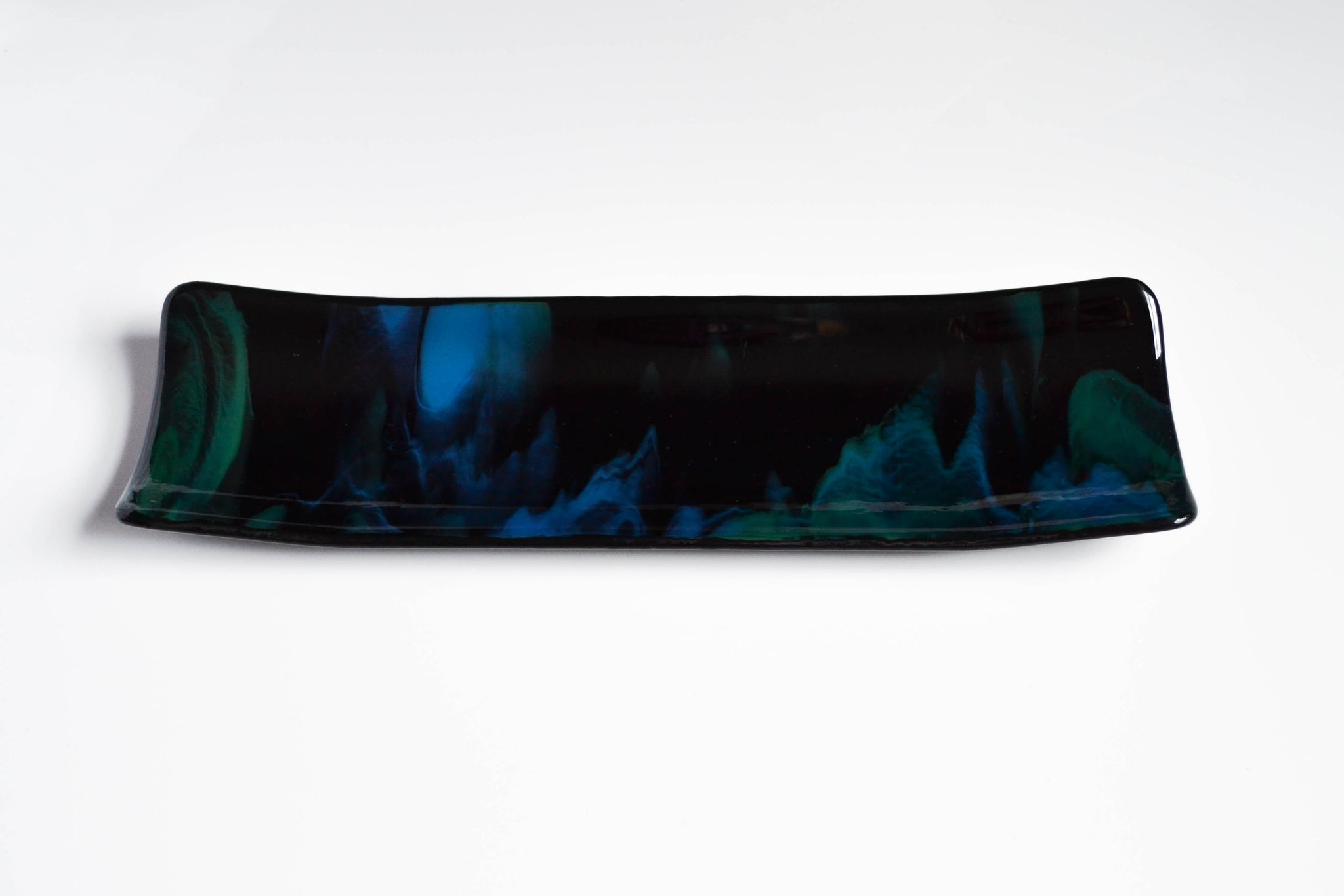 Pretty Peacock Rectangular Platter - LIMITED EDITION
