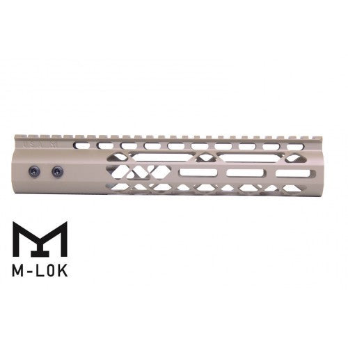 "M-LOK Free Float 10"" Rail Diamond Series-FDE"