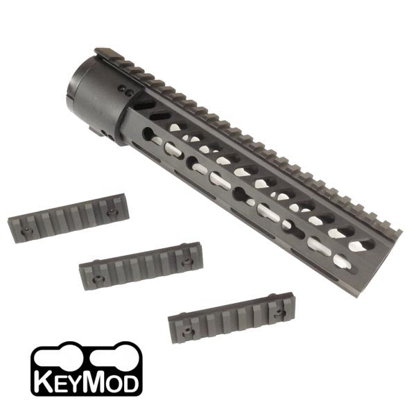 "KeyMod  Free Float 10"" Rail- BLACK"
