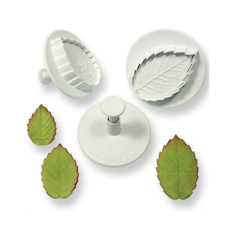 PME-Plunger Veined Rose Leaf 3 Set