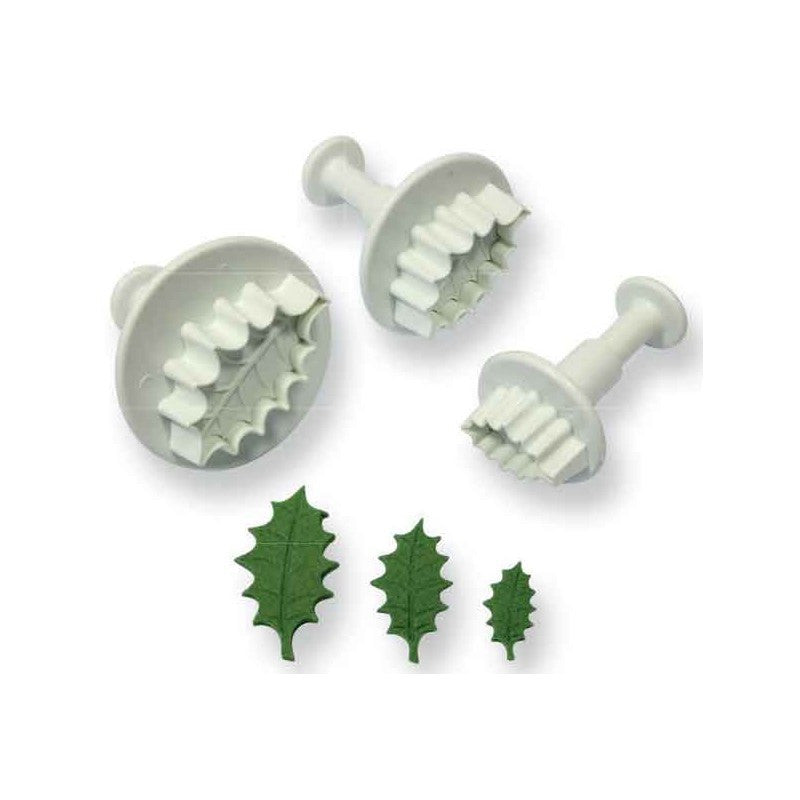 PME - Plunger Veined Holly Leaf 3 Set