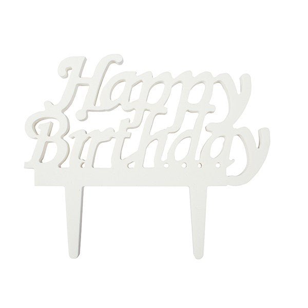Happy Birthday Gumpaste Cake Topper
