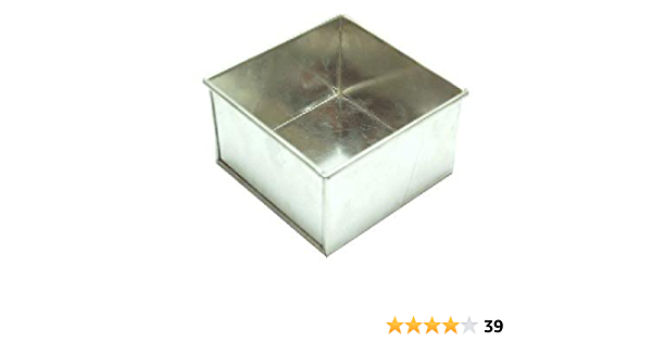 "4 inch, 3"" Deep Square Cake Tin"