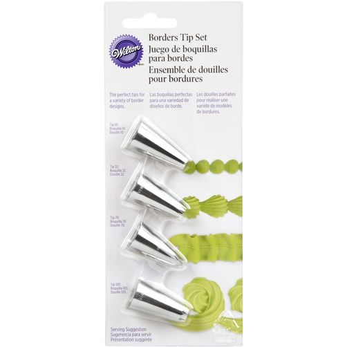 Wilton Piping Nozzles - Borders Tip Set