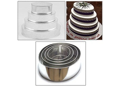 Eurotins Shaped Metal Cake Tins, Sets of 4
