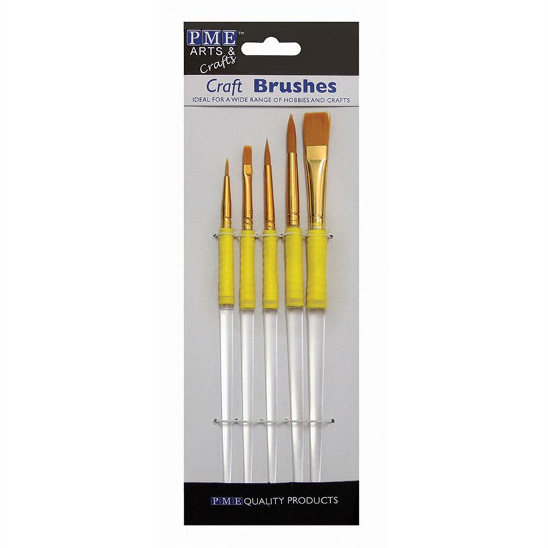 PME Nylon Craft Brushes - Set of 5
