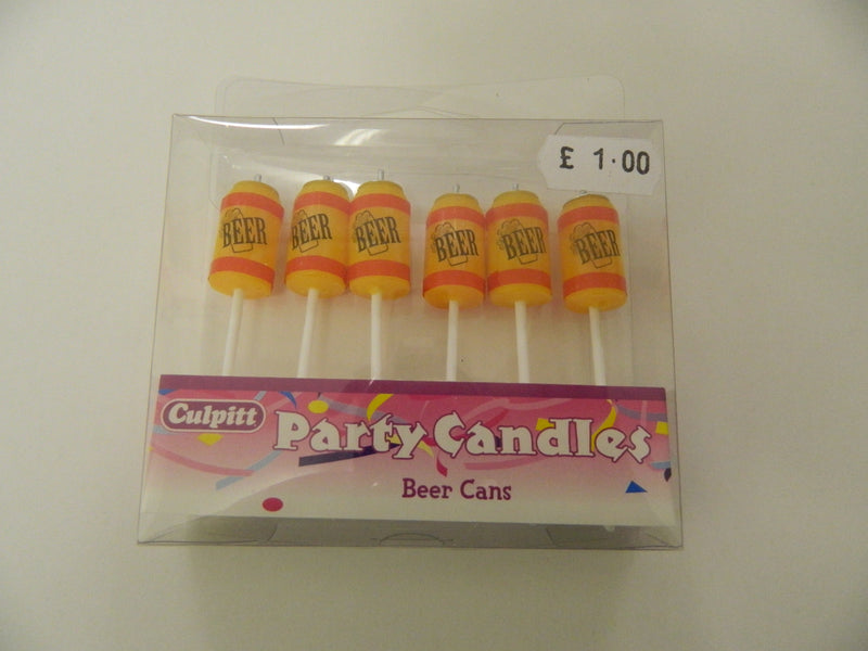 Party Candles - Beer Cans