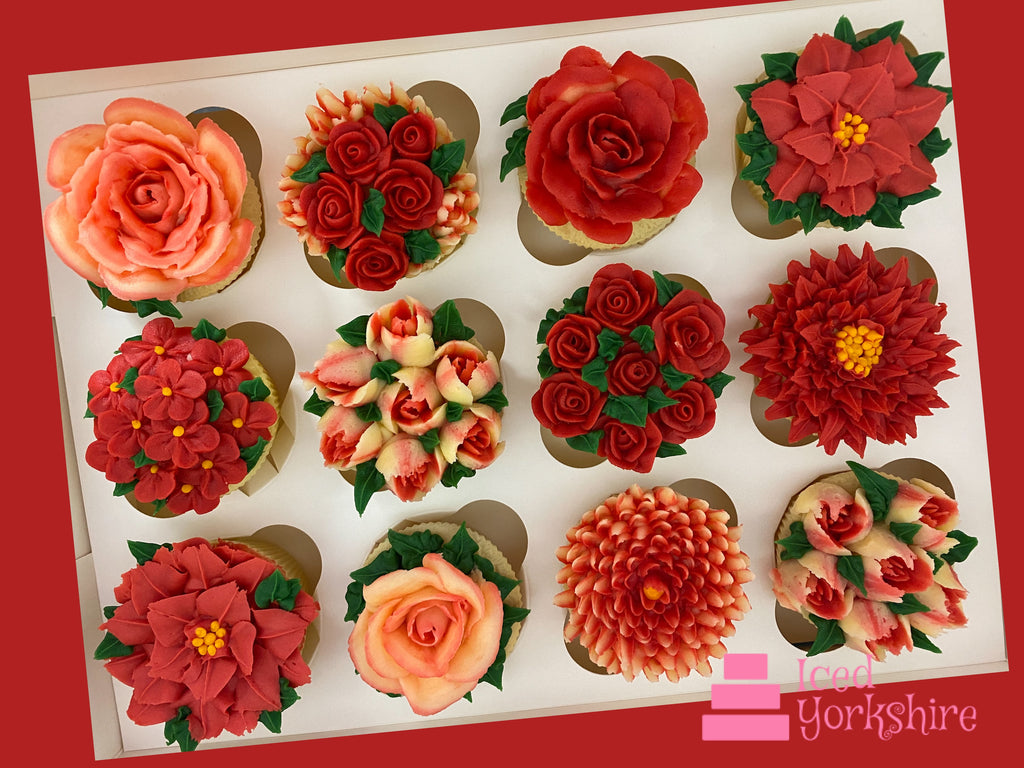 Buttercream Flower Cupcakes