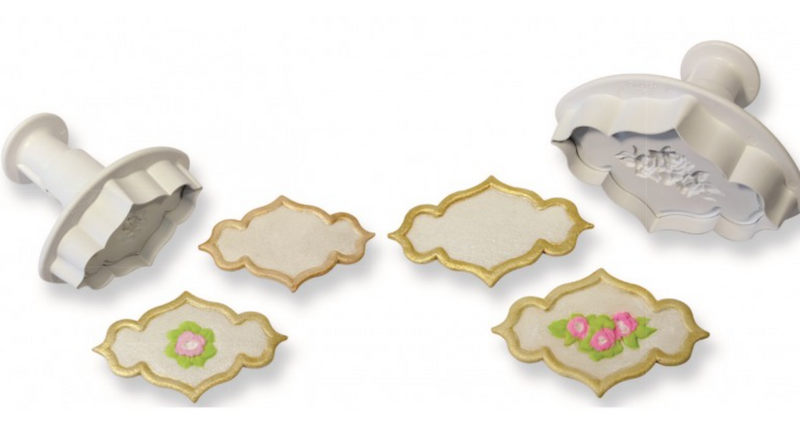 PME Plaque Rose & Plain Cutters (Small)