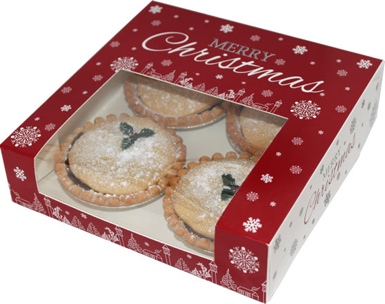 Christmas Windowed Cake and Minced Pie Boxes