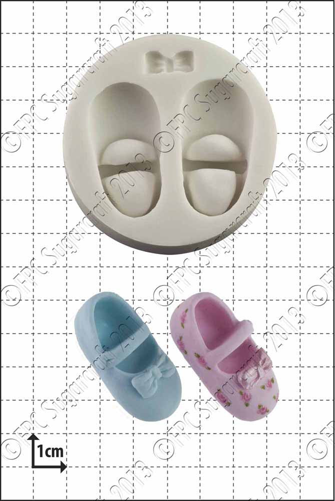 Baby Shoe and Bow FPC Mould(C010)