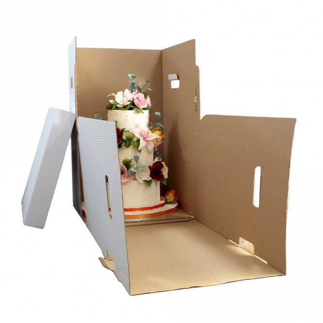 Tall Corrugated Cake Box and Insert