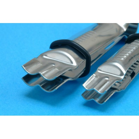 Closed Scallop Plain Edge Crimpers, Pair