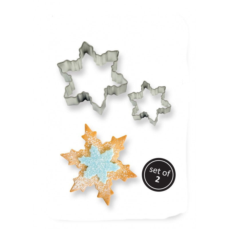 Cookie and Cake Snowflake Cutter (Set of 2)