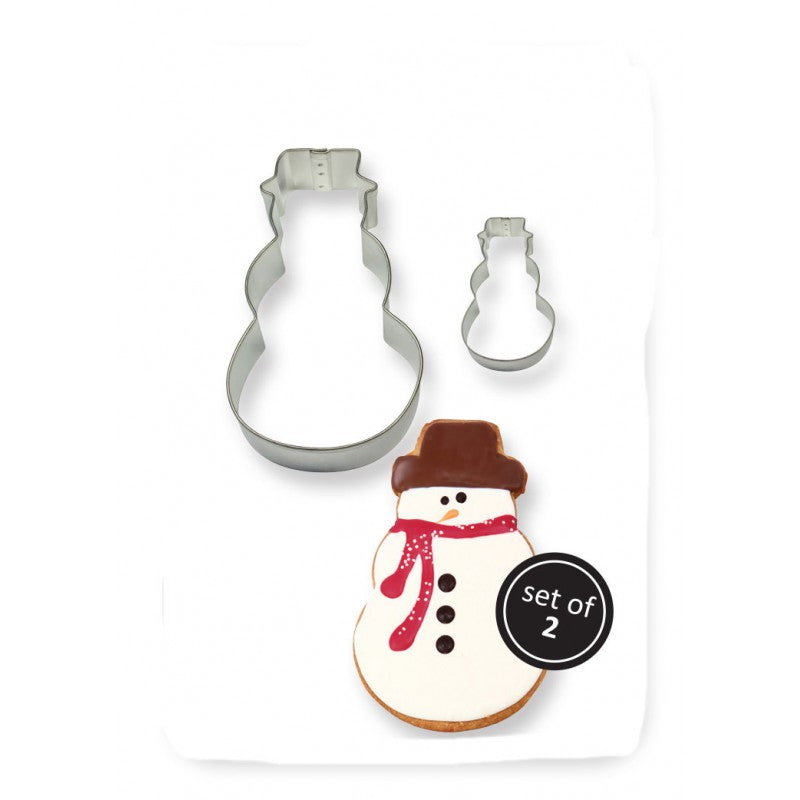 Cookie and Cake Snowman Cutter (Set of 2)