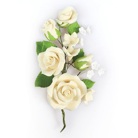 Ivory Wired Flowers-Roses 145mm