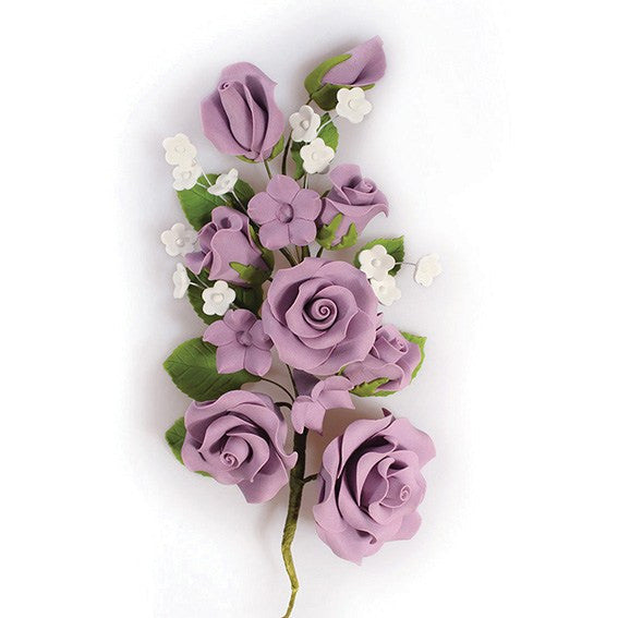Lilac Wired Flowers-Roses 170mm