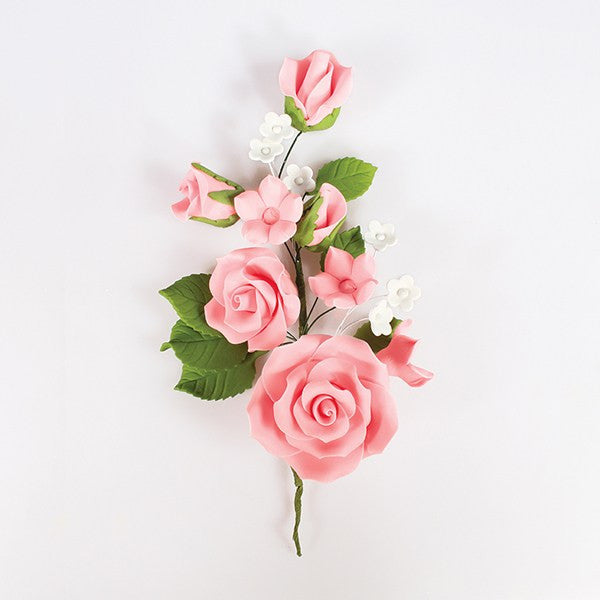 Pink Wired Flowers-Roses 145mm