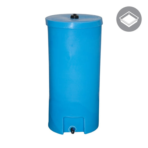 35 Gallon ROUND Water Caddie, Upright