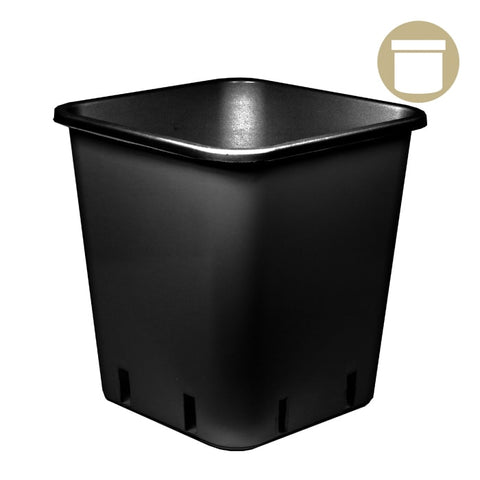 1.5 Gal. Black Square Pot