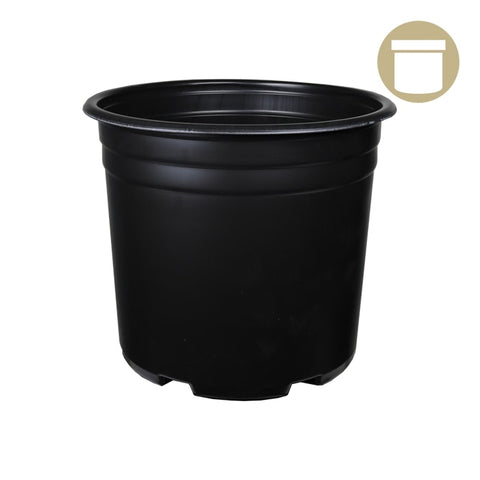 5 Gal. Squat Thermoformed Plastic Pot